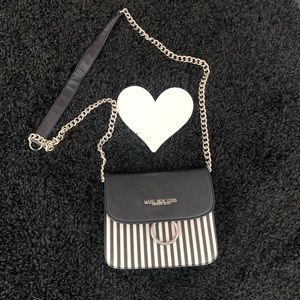 Marc New York Black white striped small purse